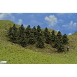 HO - stromky,smrky,výška 5-6cm,20ks (38/B1/HO)