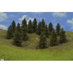 HO - stromky,smrky,výška 9-11cm,12ks (40/B1/HO)