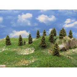 HO - stromky,smrky,výška 4-5cm,30ks (4/S1/HO)