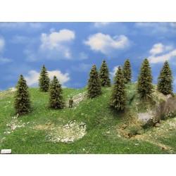 HO - stromky,smrky,výška 5-8cm,30ks (5/S1/HO)