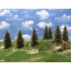 HO - stromky,smrky,výška 7-10cm,20ks (8/S2/HO)