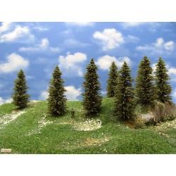 HO - stromky,smrky,výška 10-12cm,16ks (11/S2/HO)