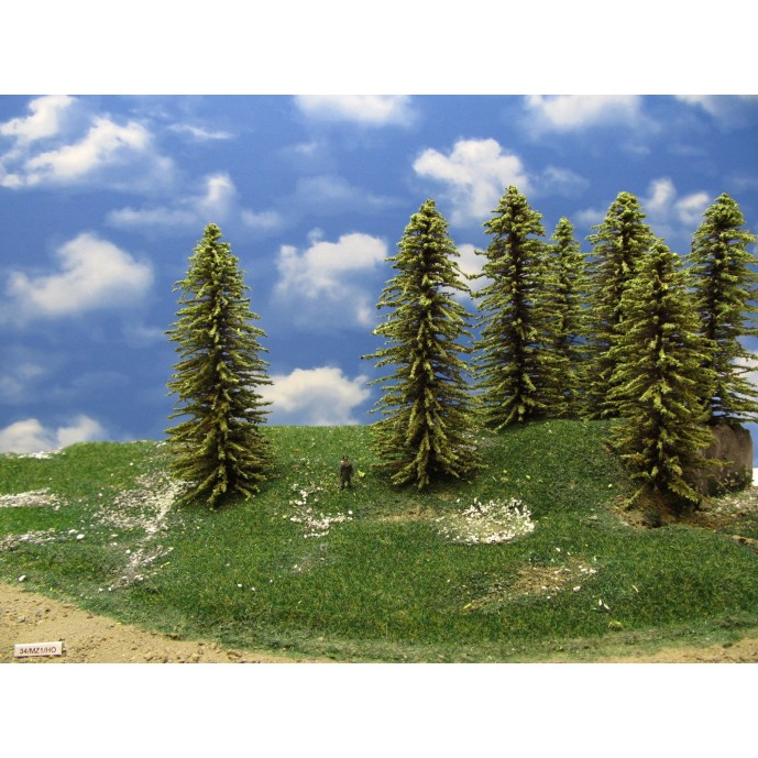 HO - stromky,smrky,výška 16-18cm,12ks (34/MZ1/HO)